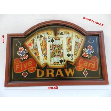 Tabella in legno five card draw